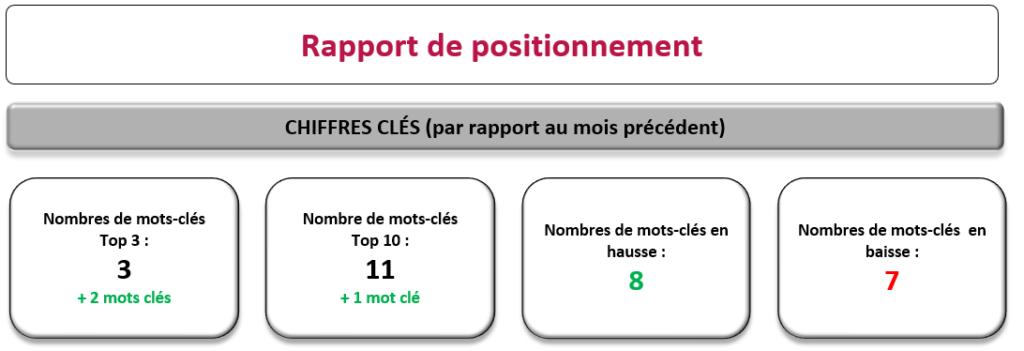 rapport positionnement SEO