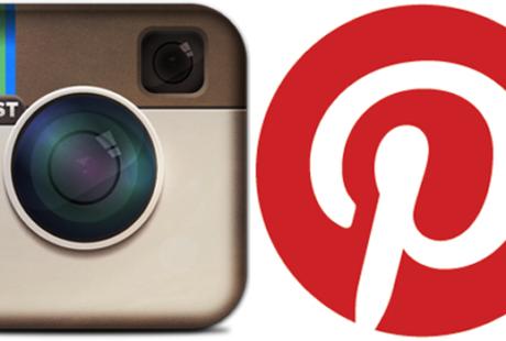 logos instagram et pinterest