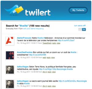 capture mail reçu avec twitlert