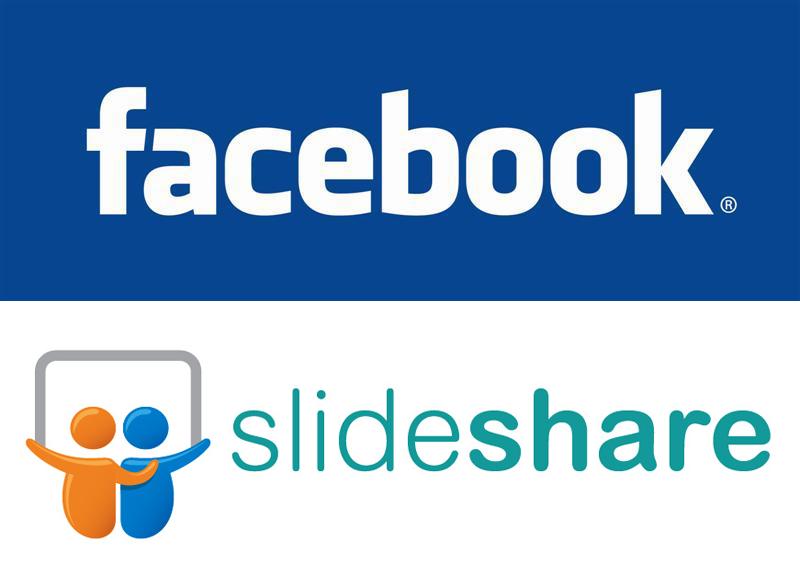 logos facebook et slideshare